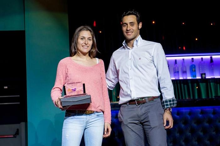 Mónica Ortín, Jesús García y Ángel Santamaría en la Gala del Deporte