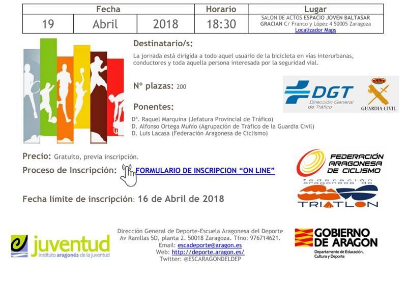 3ec92f3c5f Importante Jornada sobre: Seguridad vial para convivir ciclistas y  conductores 19 abril 18:30h
